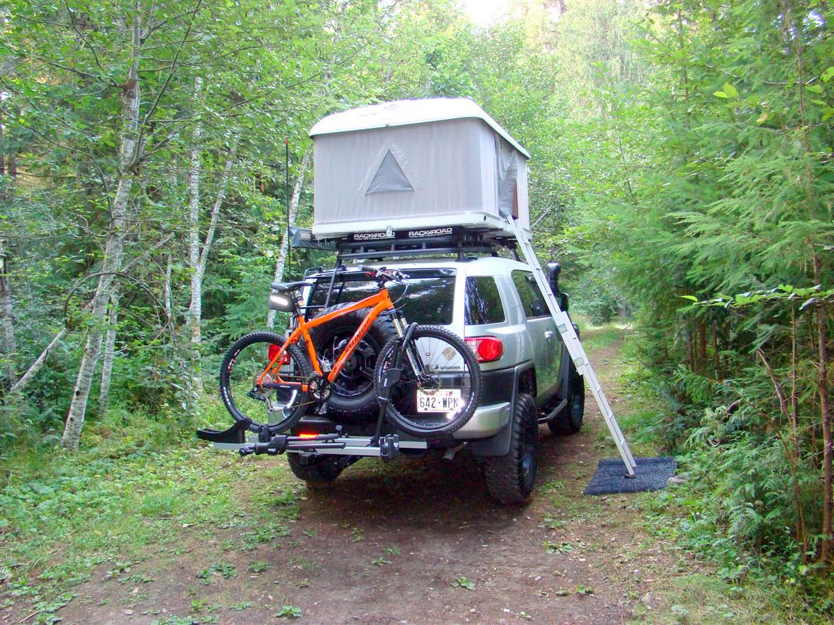 K&-Rite Midget Bushtrekka Bicycle C&er Trailer with Oversize Tent Cot & Kamp-Rite Midget Bushtrekka Bicycle Camper Trailer with Oversize ...
