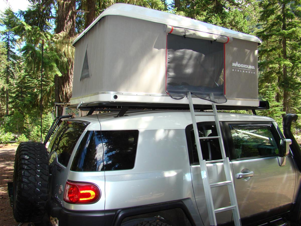 Roof Top Tent On Oem Rack Toyota Fj Cruiser Forum