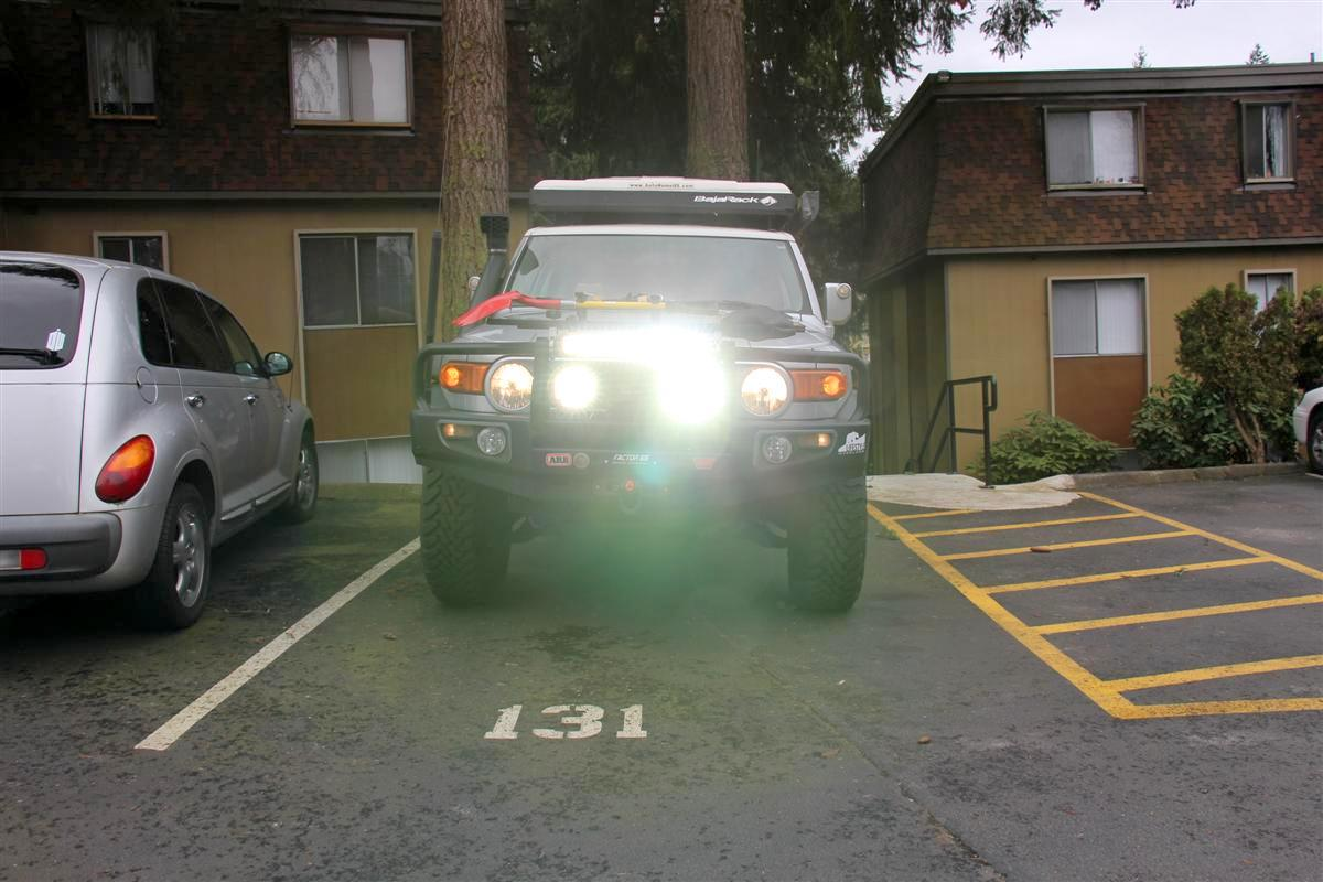 Corey s 2007 fj cruiser build up thread page 9 yotatech forums - Headlights Turned On Too On Low They Do Not Stand A Chance To Outshine These Arb Intensity Led Lights 2007 Fj Cruiser My Website Yotatech Buildup