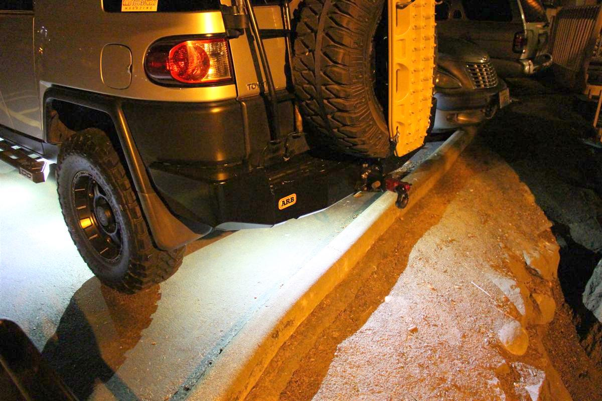 Corey s 2007 fj cruiser build up thread page 9 yotatech forums - Overall View With All Six Pods Lit Up At 3 Am There Is A Lot Of Over Spill Light From The Buildings But This Shows You Overall How Much Light They Are