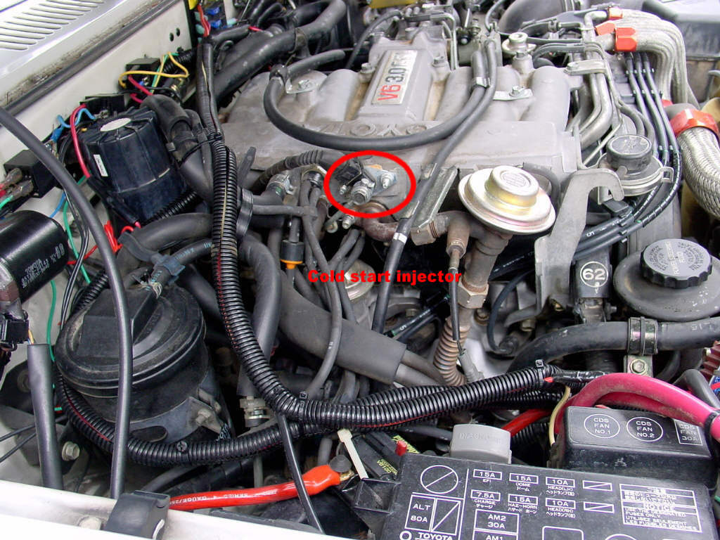 94 Toyota V6 Cold Start Valve Location on toyota truck fuel filter location
